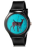 abordables Relojes de Moda-Reloj de Pulsera Cool / Colorido Silicona Banda Casual Negro