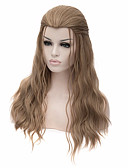 abordables Vestidos de Mujeres-Pelucas sintéticas / Pelucas de Broma Recto Pelo sintético Marrón Peluca Mujer Media / Larga Marrón Claro