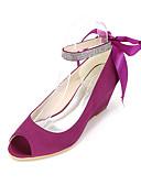 abordables Jerséis de Mujer-Mujer Zapatos Seda Primavera / Verano Tacones Tacón Cuña Corbata de Lazo Rosa / Champaña / Marfil / Boda / Fiesta y Noche