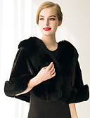 cheap Women's Fur Coats-Sleeveless Faux Fur Wedding / Party Evening / Casual Women's Wrap With Feathers / Fur Capelets