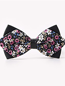 cheap Men's Ties & Bow Ties-Men's Party Work Basic Cotton Bow Tie Print