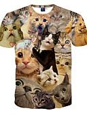 preiswerte Herren T-Shirts & Tank Tops-Herrn Tier Sport T-shirt Druck