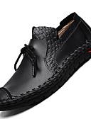זול כובעים לנשים-בגדי ריקוד גברים עור אביב / סתיו נוחות נעליים ללא שרוכים מונע החלקה שחור / צהוב / חום