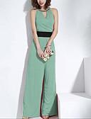 abordables Vestidos de Mujeres-azul / rojo / mono verde, vendimia / atractivo / playa / casual / partido / mangas trabajo de juana gatito de las mujeres