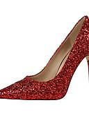 abordables Bufandas de Moda-Mujer Zapatos Semicuero Primavera / Verano Confort Tacones Paseo Tacón Stiletto Lentejuela Azul / Dorado / Champaña