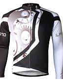 olcso Női ruhák-ILPALADINO Férfi Hosszú ujj Keréspáros dzsörzé Bike Dzsörzé, Gyors szárítás, Ultraibolya biztos, Légáteresztő