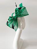 رخيصةأون قبعات موضة-ألياف الكتان / ريشة قطع زينة الرأس مع 1 زفاف / مناسبة خاصة خوذة