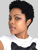 cheap Cocktail Dresses-Human Hair Capless Wigs Human Hair Wavy Natural Wave Pixie Cut For Black Women African American Wig Nature Black Short Capless Wig Women's