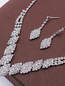abordables Sombreros de mujer-Mujer Cristal Conjunto de joyas - Moda Incluir Collar / pendientes Plata Para Boda Fiesta