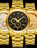 cheap Mechanical Watches-BOSCK Men's Mechanical Watch Calendar / date / day / Water Resistant / Water Proof / Luminous Stainless Steel Band Luxury / Casual / World Map Gold / Automatic self-winding / KC 377A