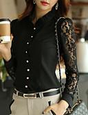 preiswerte Damen Kleider-Damen Solide Übergrössen Hemd Spitze