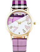 abordables Relojes de Moda-Mujer Reloj de Pulsera Reloj Casual / Cool / / Piel Banda Casual / Moda Blanco / Azul / Verde / Un año / SSUO 377