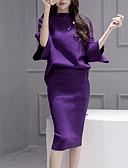 ieftine Costum Damă Două Bucăți-Pentru femei Bluză Set - Mată, Fustă