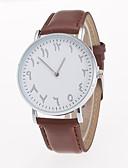 preiswerte Kleideruhr-Herrn Armbanduhr Armbanduhren für den Alltag / / PU Band Freizeit Schwarz / Braun