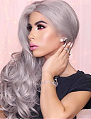 cheap Prom Dresses-Synthetic Wig Body Wave Synthetic Hair Gray Wig Women's Capless