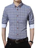 abordables Sudaderas de Hombre-Hombre Tallas Grandes Algodón Camisa A Cuadros