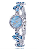 cheap Bracelet Watches-Women's Bracelet Watch Quartz Rhinestone Imitation Diamond Alloy Band Analog Flower Casual Bangle Silver - Purple Pink Light Blue One Year Battery Life / Jinli 377