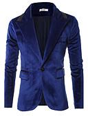 billige Hættetrøjer og sweatshirts til herrer-Herre Ensfarvet Blazer Bomuld