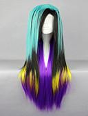 halpa Miesten hupparit ja collegepuserot-Synteettiset peruukit / Pilailuperuukit Suora Synteettiset hiukset Vihreä Peruukki Naisten Suojuksettomat
