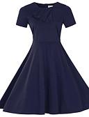 お買い得  レディースドレス-女性用 プラスサイズ ワーク モダンシティ コットン シース ドレス ソリッド 膝丈
