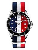 preiswerte Herrenuhren-SKMEI Herrn Armbanduhr Kalender / Wasserdicht / Armbanduhren für den Alltag Stoff Band Luxus / Freizeit / Modisch Weiß / Blau / Rot