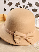 cheap Fashion Hats-Women's Party Fedora Hat - Solid Colored Bow