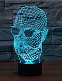 olcso Kislány ruhák-1 db Karácsonyi világítás Dekorációs lámpa Éjjeli fény Érzékelő Tompítható Vízálló Színváltós LED Modern/kortárs