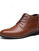 abordables Tops-Hombre Fashion Boots Cuero Otoño / Invierno Confort Botas Paseo Negro / Marrón