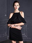 povoljno Ženske haljine-Žene Izlasci Korice / Little Black Haljina Jednobojni Na vezanje oko vrata Iznad koljena