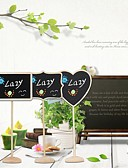 preiswerte Parykopfbedeckungen-Holz Tischkarten Tischnummer-Karten Ständer Poly Tasche 12