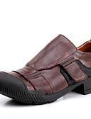 ieftine Pălării Bărbați-Bărbați Pantofi de piele Nappa Leather Primăvară / Vară / Toamnă Confortabili Oxfords Maro Închis / Party & Seară