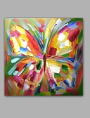 baratos Suporte para Lembrancinhas-Pintura a Óleo Pintados à mão - Arte Pop Clássico / Modern Incluir moldura interna / Lona esticada