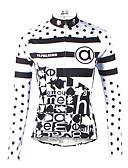 お買い得  ガールズファッション-ILPALADINO 女性用 長袖 サイクリングジャージー - ブラック / ホワイト バイク ジャージー, 速乾性, 抗紫外線, 高通気性