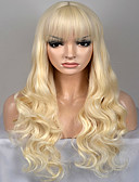 זול שמלות לאם הכלה-פאות סינתטיות גלי טבעי שיער סינטטי בלונד פאה בגדי ריקוד נשים ארוך / ארוך מאוד ללא מכסה