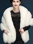 cheap Women's Coats & Trench Coats-Women's Chic & Modern Faux Fur Fur Coat - Solid Color, Modern Style / Winter