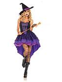 baratos Véus de Noiva-Bruxa Fantasias de Cosplay Uniformes Sensuais Roxo Terylene Acessórios para Cosplay Dia Das Bruxas / Carnaval Fantasias