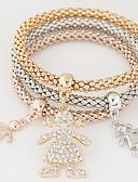 baratos Relógio Elegante-Mulheres Camadas / Pilha Pulseiras com Pendentes - Strass, Imitações de Diamante Luxo, Europeu, Estilo simples Pulseiras Arco-Íris Para Presente / Diário