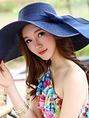 cheap Women's Hats-Women's Holiday / Outdoor Straw Hat - Solid Colored / Summer