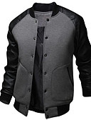 cheap Men's Jackets & Coats-Men's Active Cotton Bomber Jacket - Patchwork / Long Sleeve