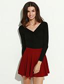 preiswerte Damen Röcke-Damen A-Linie Röcke - Solide Rüsche / Mini