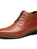 abordables Bufandas de Mujer-Hombre Zapatos Confort Cuero / Piel Otoño / Invierno Botas Paseo Antideslizante Negro / Marrón / Con Cordón / Al aire libre / Fashion Boots / Botas hasta el Tobillo