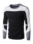 お買い得  メンズフーディー&スウェットシャツ-男性用 スポーツ 活発的 長袖 スウェットシャツ - カラーブロック ラウンドネック