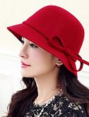 abordables Sombreros de mujer-Mujer Lana Sombrero Playero - Vintage Trabajo Un Color
