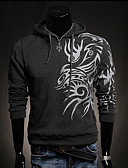 cheap Men's Swimwear-Men's Long Sleeve Hoodie Print