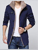 cheap Men's Jackets & Coats-Men's Basic Slim Jacket - Solid Colored Shirt Collar