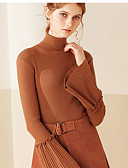 cheap Women's Dresses-Women's Flare Sleeve Pullover - Solid Colored Stand