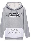 povoljno Ženski karirani kaputi-Inspirirana Moj susjed Totoro Mačka Anime Cosplay nošnje cosplay Hoodies Print Dugih rukava Kaput Za Muškarci / Žene