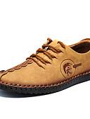 olcso Férfi pólók-Férfi Bőr cipők Mikroszálas Tavasz / Ősz Kényelmes Félcipők Antisztatikus Fekete / Sárga / Khakizöld