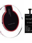 baratos Gravatas e Gravatas Borboleta-Carregador de Base / Carregador Portátil / Carregador Sem Fios Carregador USB Universal Carregador Sem Fios 1 Porta USB 1 A DC 5V para