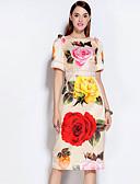 abordables Vestidos de Mujeres-Mujer Vintage Vaina Vestido Floral Midi